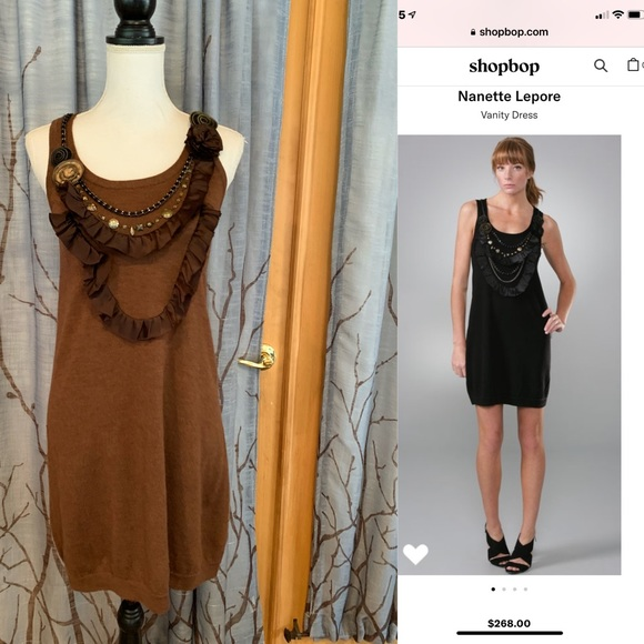 Nanette Lepore Dresses & Skirts - Nanette Lepore S Vanity Dress Brown wool sheath
